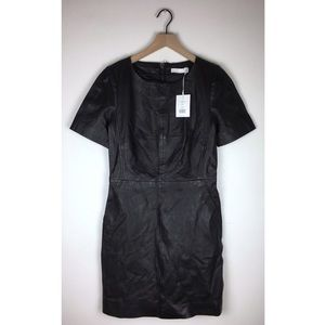 NWT W118 by Walter Baker Candace Leather Dress